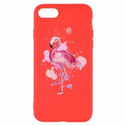 Чехол для iPhone 8 Flamingo pink and spray