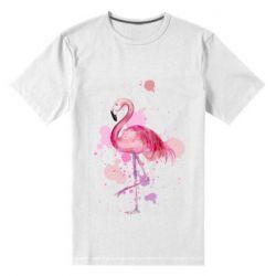 Мужская стрейчевая футболка Flamingo pink and spray