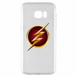 Чехол для Samsung S7 EDGE Flash Logo Art - FatLine