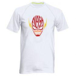 Мужская спортивная футболка Flash Typography