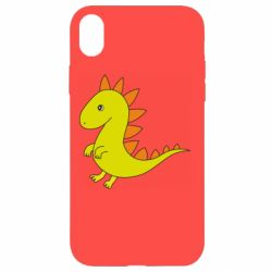 Чехол для iPhone XR Flat Dino