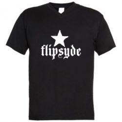 Чоловіча футболка з V-подібним вирізом Flipsyde