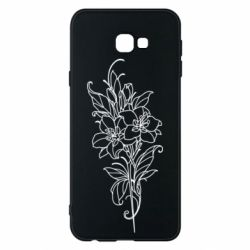 Чехол для Samsung J4 Plus 2018 Flower contour