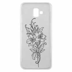 Чехол для Samsung J6 Plus 2018 Flower contour