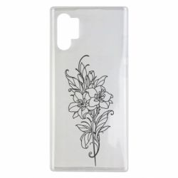 Чехол для Samsung Note 10 Plus Flower contour