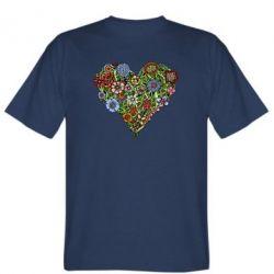 Мужская футболка Flower heart - FatLine