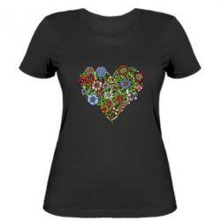 Женская футболка Flower heart - FatLine