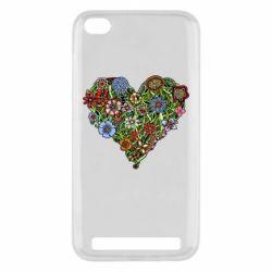 Чехол для Xiaomi Redmi 5a Flower heart - FatLine