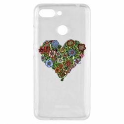 Чехол для Xiaomi Redmi 6 Flower heart - FatLine