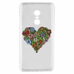 Чехол для Xiaomi Redmi Note 4 Flower heart - FatLine