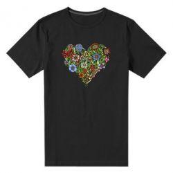 Мужская стрейчевая футболка Flower heart - FatLine
