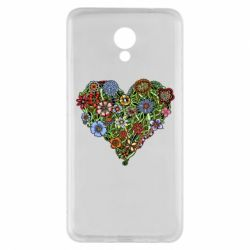 Чехол для Meizu M5 Note Flower heart - FatLine