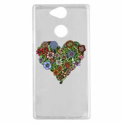 Чехол для Sony Xperia XA2 Flower heart - FatLine