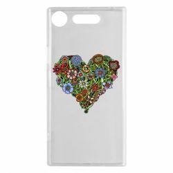 Чехол для Sony Xperia XZ1 Flower heart - FatLine