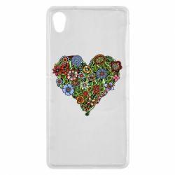 Чехол для Sony Xperia Z2 Flower heart - FatLine
