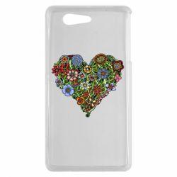 Чехол для Sony Xperia Z3 mini Flower heart - FatLine