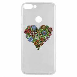 Чехол для Huawei P Smart Flower heart - FatLine