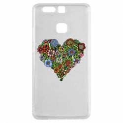 Чехол для Huawei P9 Flower heart - FatLine