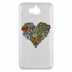 Чехол для Huawei Y5 2017 Flower heart - FatLine