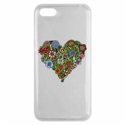 Чехол для Huawei Y5 2018 Flower heart - FatLine