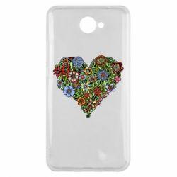 Чехол для Huawei Y7 2017 Flower heart - FatLine
