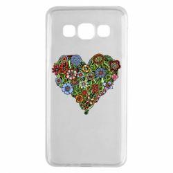Чехол для Samsung A3 2015 Flower heart - FatLine