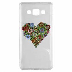 Чехол для Samsung A5 2015 Flower heart - FatLine