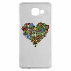 Чехол для Samsung A5 2016 Flower heart - FatLine