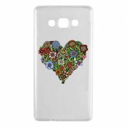 Чехол для Samsung A7 2015 Flower heart - FatLine