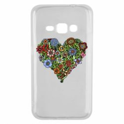 Чехол для Samsung J1 2016 Flower heart - FatLine