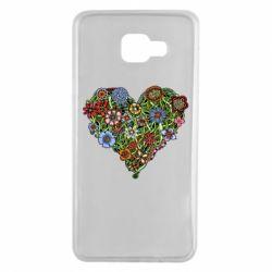 Чехол для Samsung A7 2016 Flower heart - FatLine