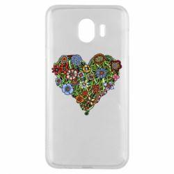 Чехол для Samsung J4 Flower heart - FatLine