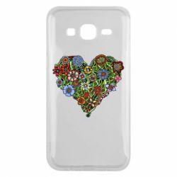 Чехол для Samsung J5 2015 Flower heart - FatLine
