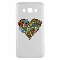 Чохол для Samsung J5 2016 Flower heart