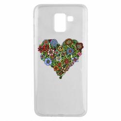 Чехол для Samsung J6 Flower heart - FatLine