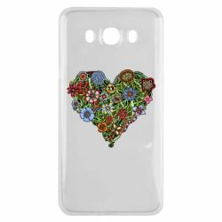Чехол для Samsung J7 2016 Flower heart - FatLine