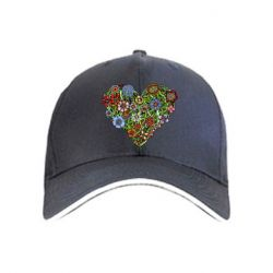 Кепка Flower heart - FatLine
