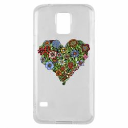 Чохол для Samsung S5 Flower heart