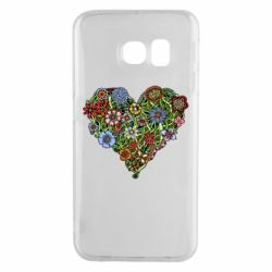 Чехол для Samsung S6 EDGE Flower heart - FatLine