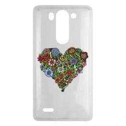 Чехол для LG G3 mini/G3s Flower heart - FatLine