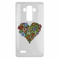 Чехол для LG G4 Flower heart - FatLine