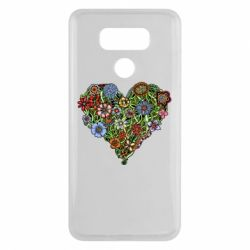 Чехол для LG G6 Flower heart - FatLine