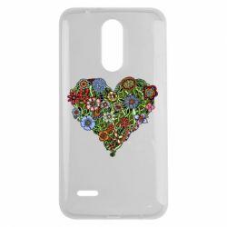 Чехол для LG K7 2017 Flower heart - FatLine