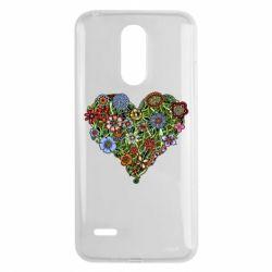 Чехол для LG K8 2017 Flower heart - FatLine