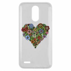 Чехол для LG K10 2017 Flower heart - FatLine