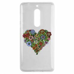 Чехол для Nokia 5 Flower heart - FatLine
