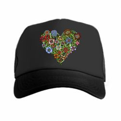 Кепка-тракер Flower heart - FatLine