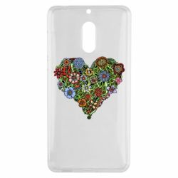Чехол для Nokia 6 Flower heart - FatLine