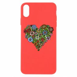 Чехол для iPhone Xs Max Flower heart - FatLine