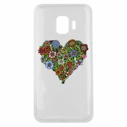 Чехол для Samsung J2 Core Flower heart - FatLine